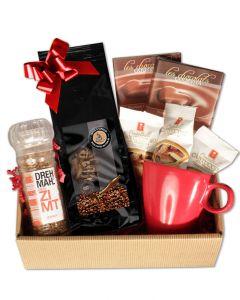 CREMA Geschenkbox Kaffee mit Tasse und Cantuccini