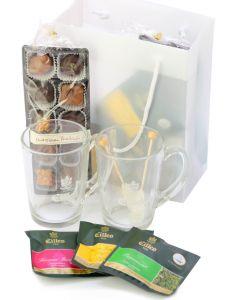 TEE & PRALINEN Geschenkset für Zwei mit Eilles Tea Diamonds