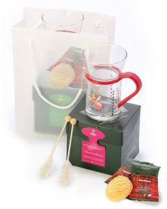 EILLES Geschenkset mit Engel Teeglas und Tea Diamonds