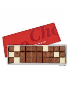 Schokoladen-Telegramm mit Deinem Wunschtext mit 30 Zeichen