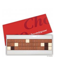 Schokoladen-Telegramm mit Deinem Wunschtext mit 36 Zeichen