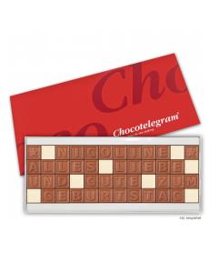 Schokoladen-Telegramm mit Deinem Wunschtext mit 48 Zeichen