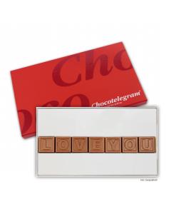 Schokoladen-Telegramm mit Deinem Wunschtext mit 7 Zeichen