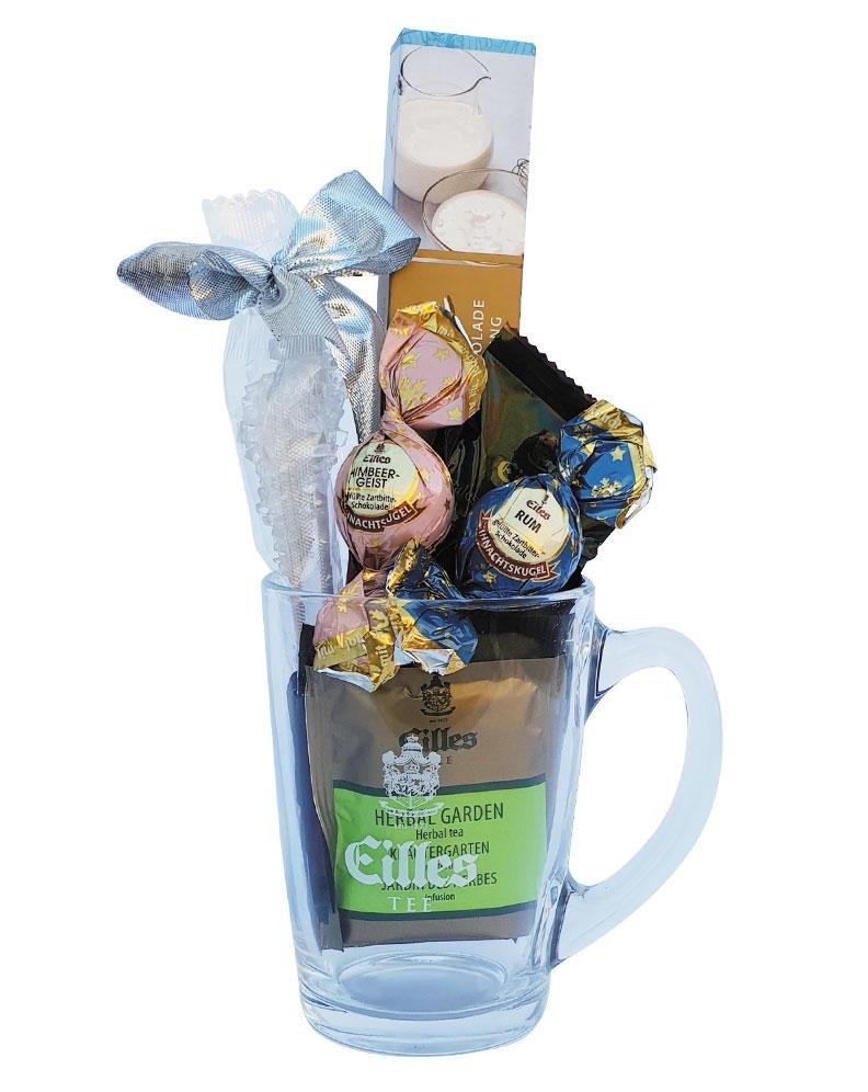 geschenkset-sweet-confiserie-deluxe-tee-weihnachtskugeln-edle-schokolade-im-designerglas-von-eille