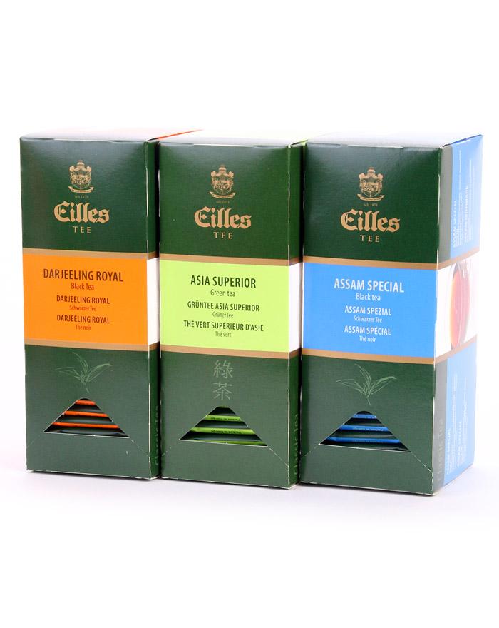 CLASSIC BEST Set mit den drei beliebtesten Sorten der EILLES Teebeutel