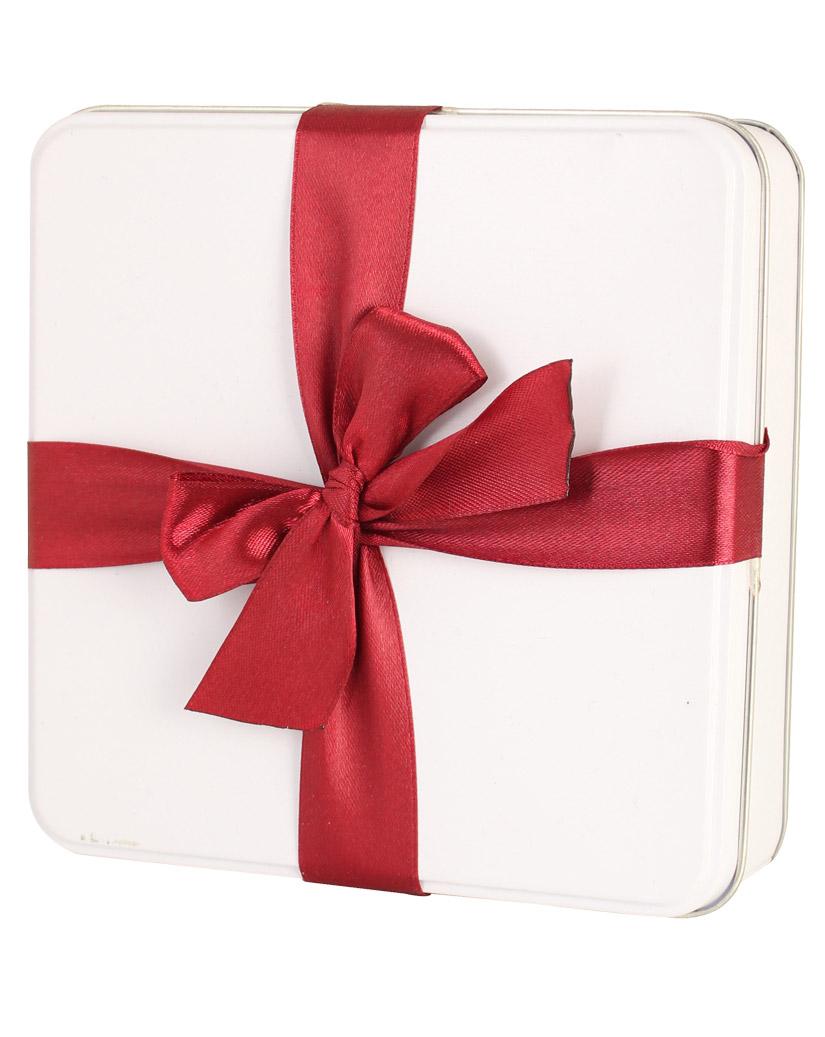 RED DESIGN Geschenkdose mit Schleife, quadratisch