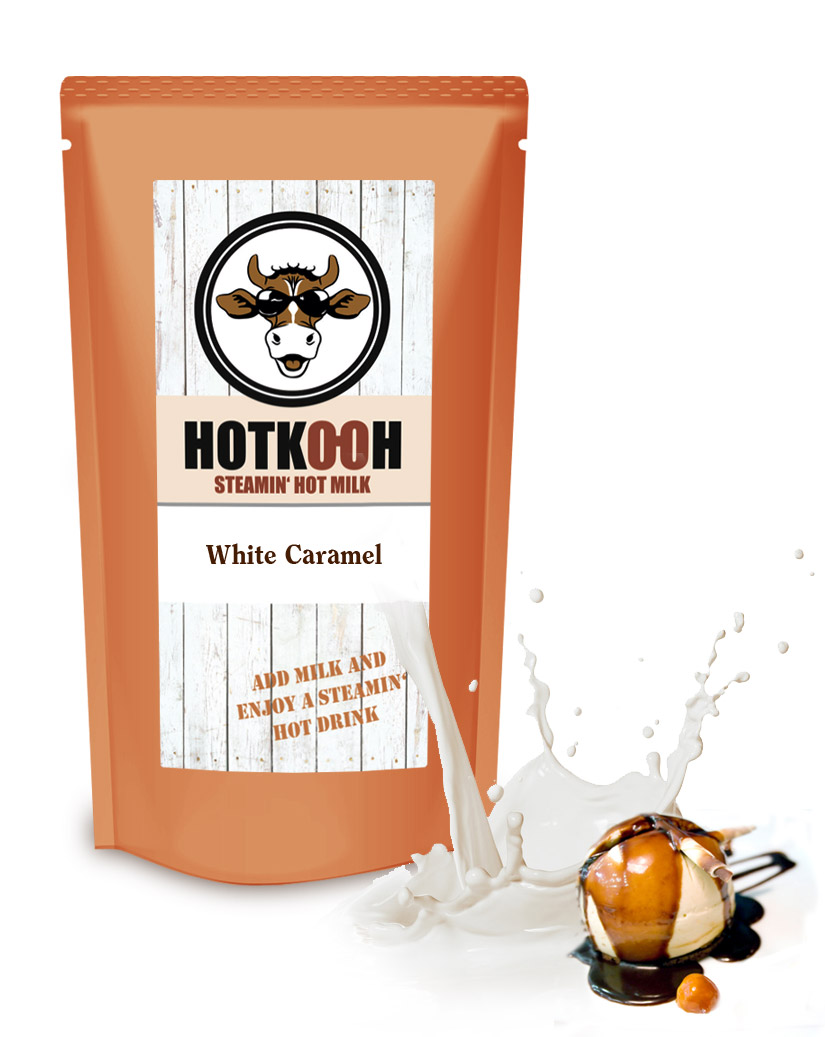 HOTKOOH White Caramell Mix für Heisse Milchgetränke 200g