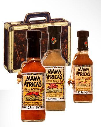 Geschenk-Koffer mit Mama Africa Grillsaucen