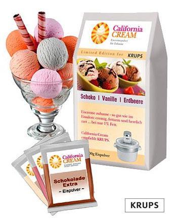 Test-Set Eiscreme mit Schoko, Vanille, Erdbeer