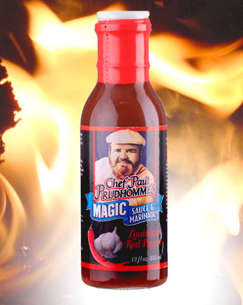 Paul Prudhomme Magic Sauce Louisana Red Pepper 355 g Flasche