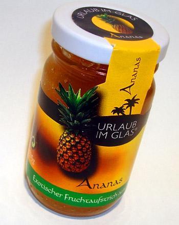Urlaub im Glas Fruchtaufstrich Ananas 125 g