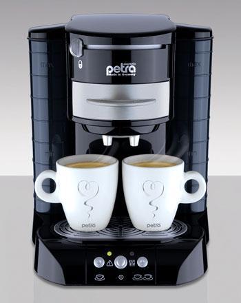 Kaffeepad Automat Petra in Weis