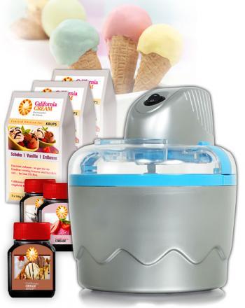 Start Set mit Eismaschine und Eiscreme