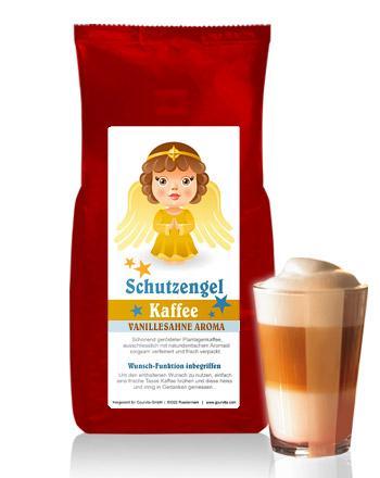 SCHUTZENGEL Kaffee mit Vanille-Sahne Aroma von Coffee-Nation 250 g Bohne
