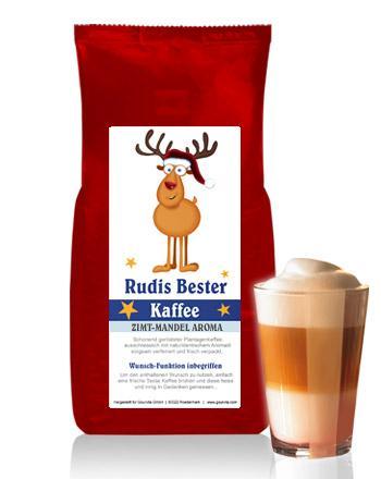 RUDIS BESTER Kaffee mit Zimt-Mandel Aroma von Coffee-Nation 250 g Bohne
