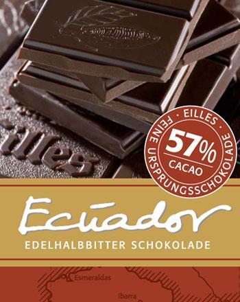 ECUADOR Ursprungs Schokolade von EILLES 5 x 50 ...