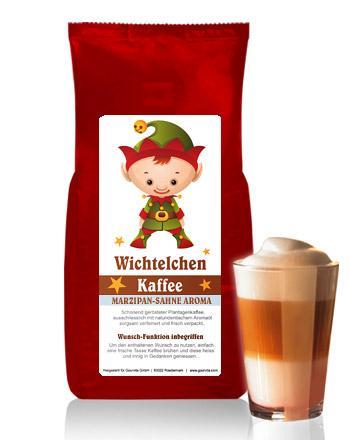 WICHTELCHEN Kaffee mit Marzipan-Sahne Aroma von Coffee-Nation 250 g Bohne