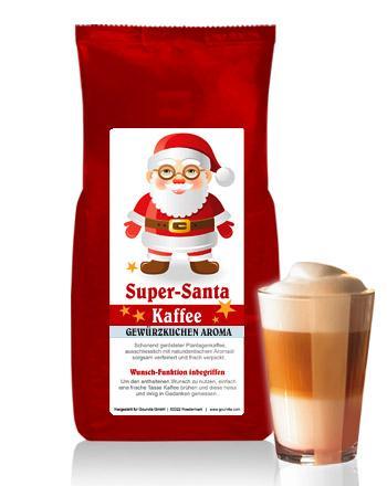SUPER-SANTA Kaffee mit Gewürzkuchen Aroma von Coffee-Nation 250 g Bohne