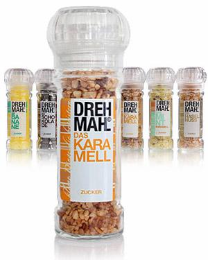 Aromazucker Mühle von Drehmahl 4er Set