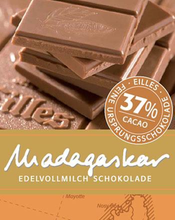 Madagaskar Ursprungs Schokolade von EILLES 2 x ...