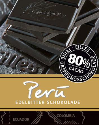 Peru Ursprungs Schokolade von EILLES 2 x 100 g ...