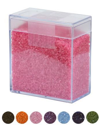 Farbzucker Klarsichtdose TREND Sorte Pink 300 g - broschei