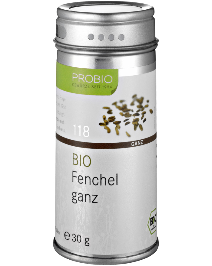Probio Fenchel ganz, Bio, Streudose, 30 g