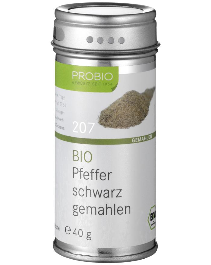 Probio Pfeffer schwarz gemahlen, Bio, Streudose, 40 g