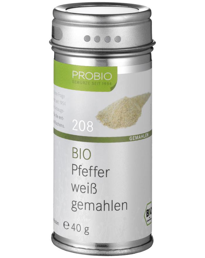 Probio Pfeffer weiß gemahlen, Bio, Streudose, 40 g