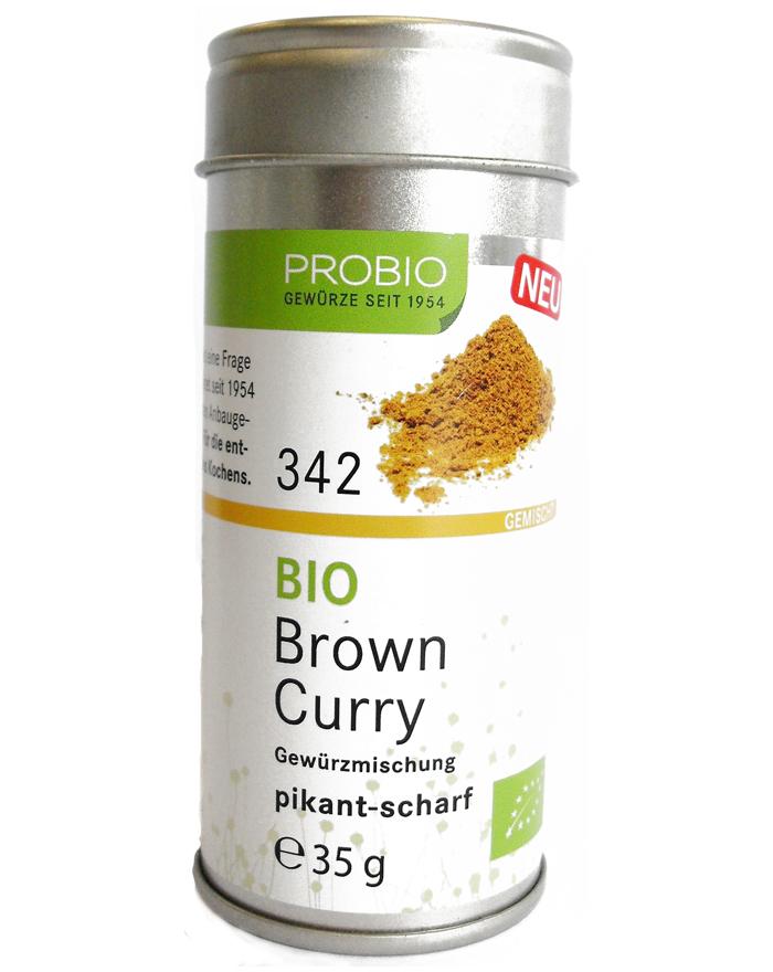 Probio Brown Curry, Bio, Streudose, 35 g
