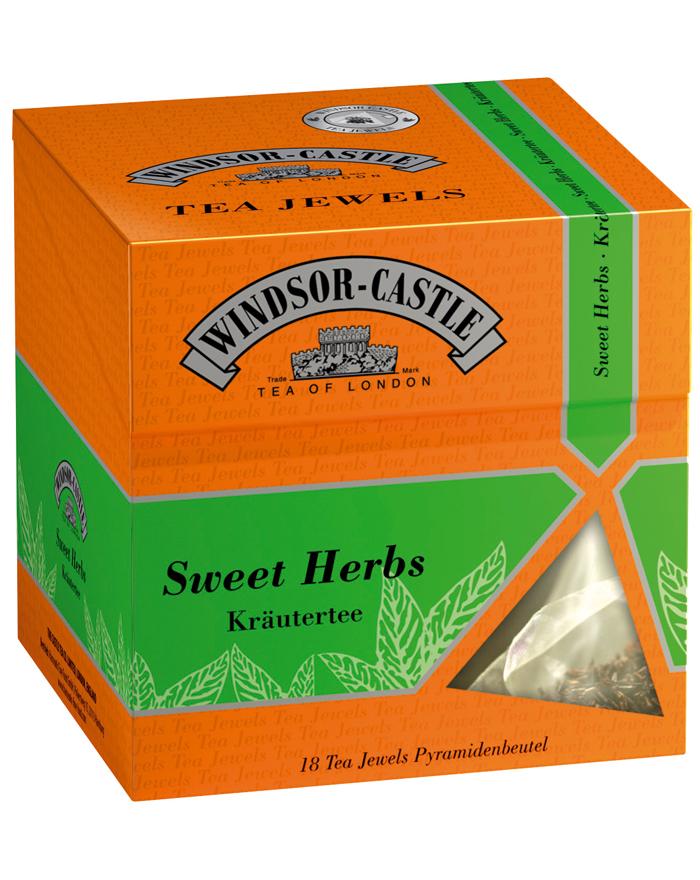 Windsor-Castle Sweet Herbs Jewel, Pyramidenbeutel, 18er, 35 g