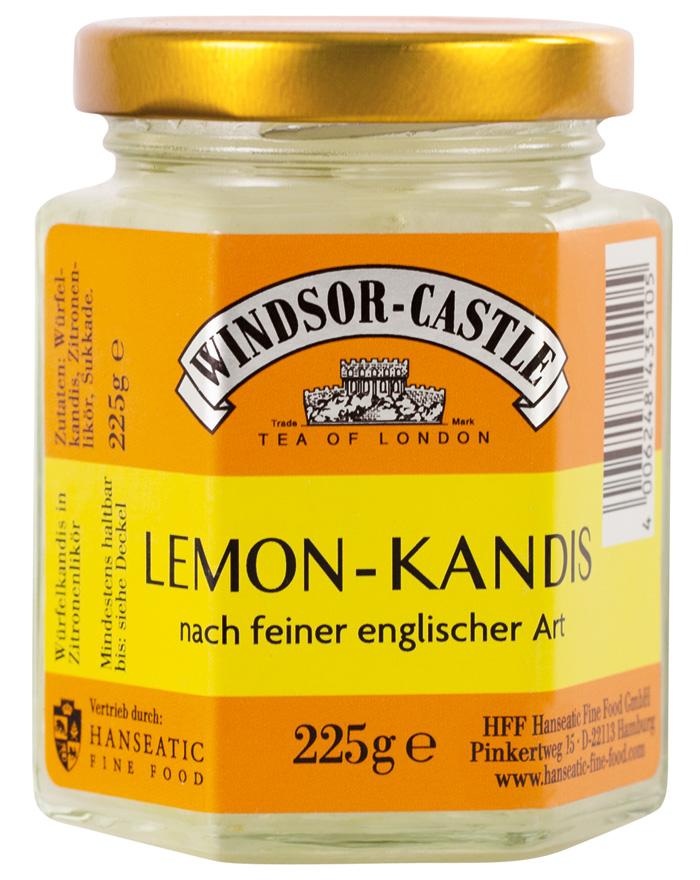 Windsor-Castle Weißer Kandis mit Zitronenlikör, Glas, 225 g