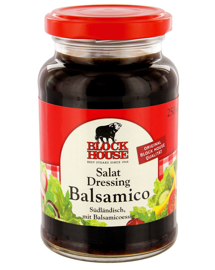Block House Salat Dressing Balsamico, Glas 250 ml