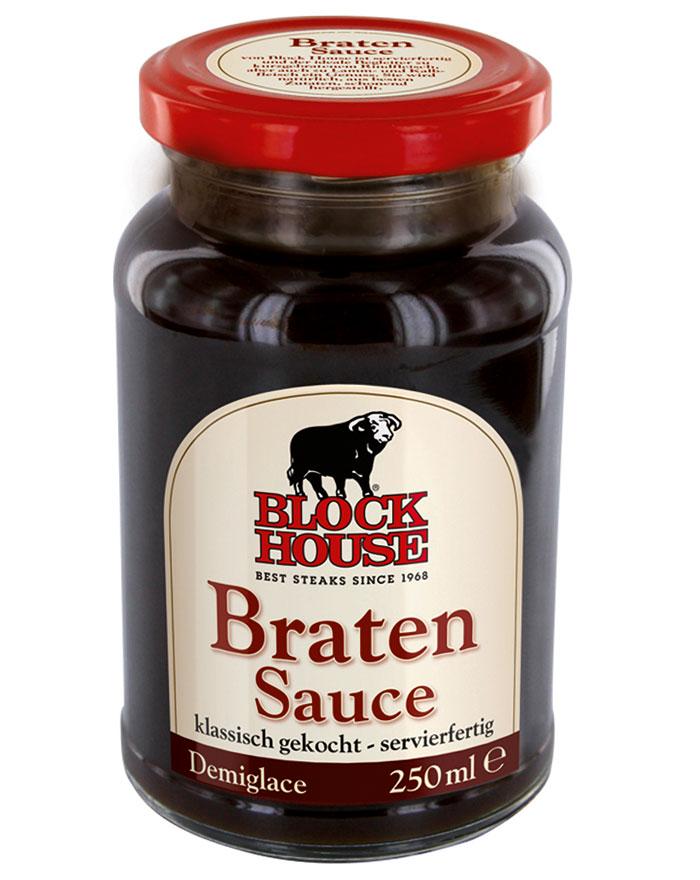 Block House Bratensauce, Glas 250 ml