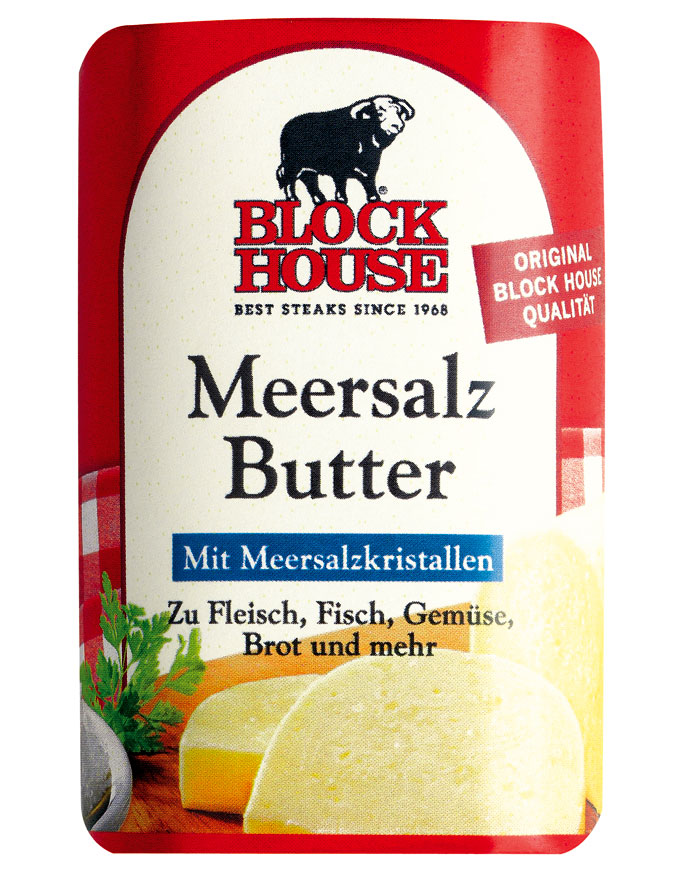 Block House Meersalz Butter, Riegel 125 g