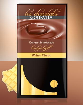 Weisse Schokolade Classic handgeschöpft Les Chocolats Gourvita 100 g