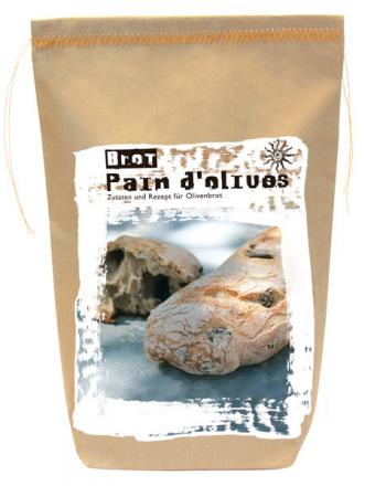 PAIN D`OLIVE Frischbrot Backmischung Französisches Olivenbrot 505 g