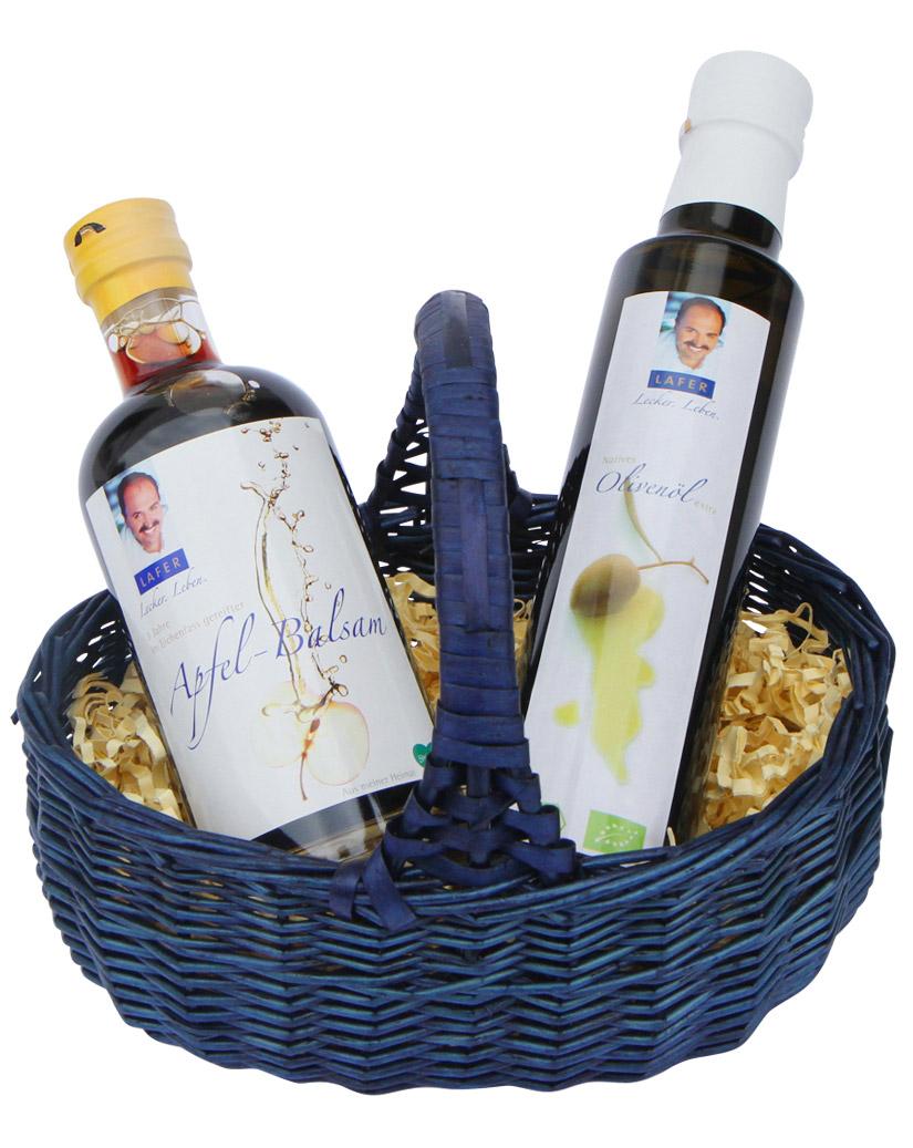 johann-lafer-essig-und-ol-geschenkkorb-mit-bio-olivenol-und-fruchtigem-apfel-balsam