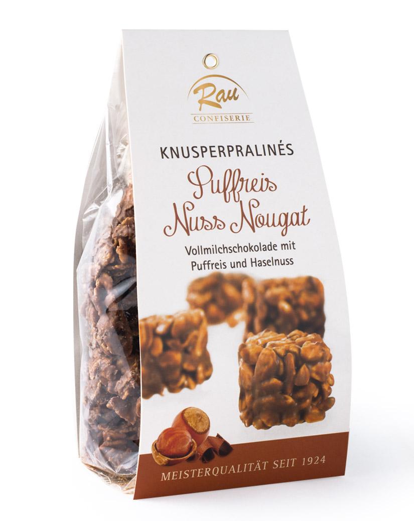 Knusperpralinés Puffreis Nuss Nougat, 200 g