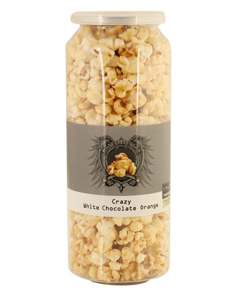 Crazy Popcorn White Chocolate Orange 50g