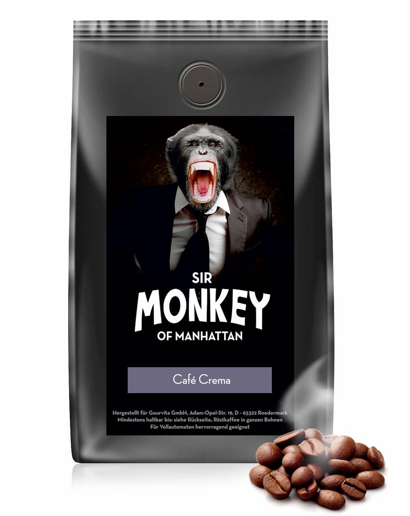 SIR MONKEY OF MANHATTAN Cafe Creme 500 g - broschei