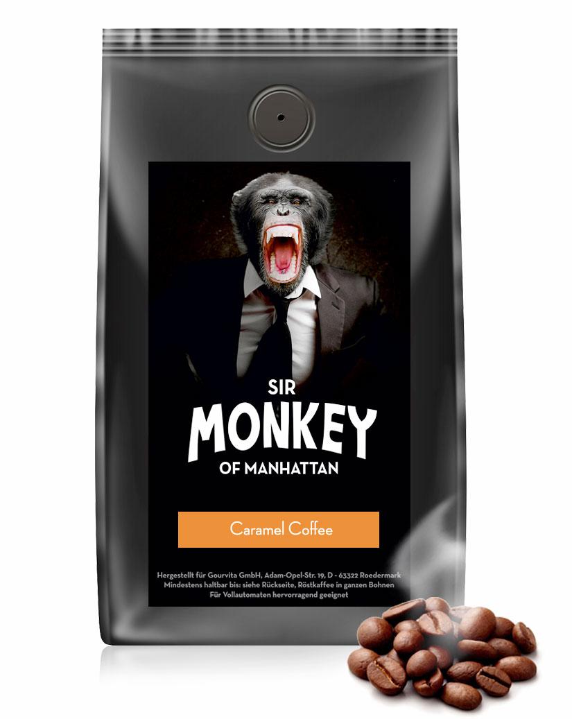 SIR MONKEY OF MANHATTAN Caramel Kaffee 500 g jetztbilligerkaufen