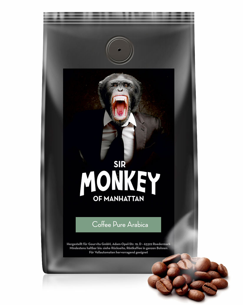 SIR MONKEY OF MANHATTAN Coffee Pure Arabica 500 g - broschei
