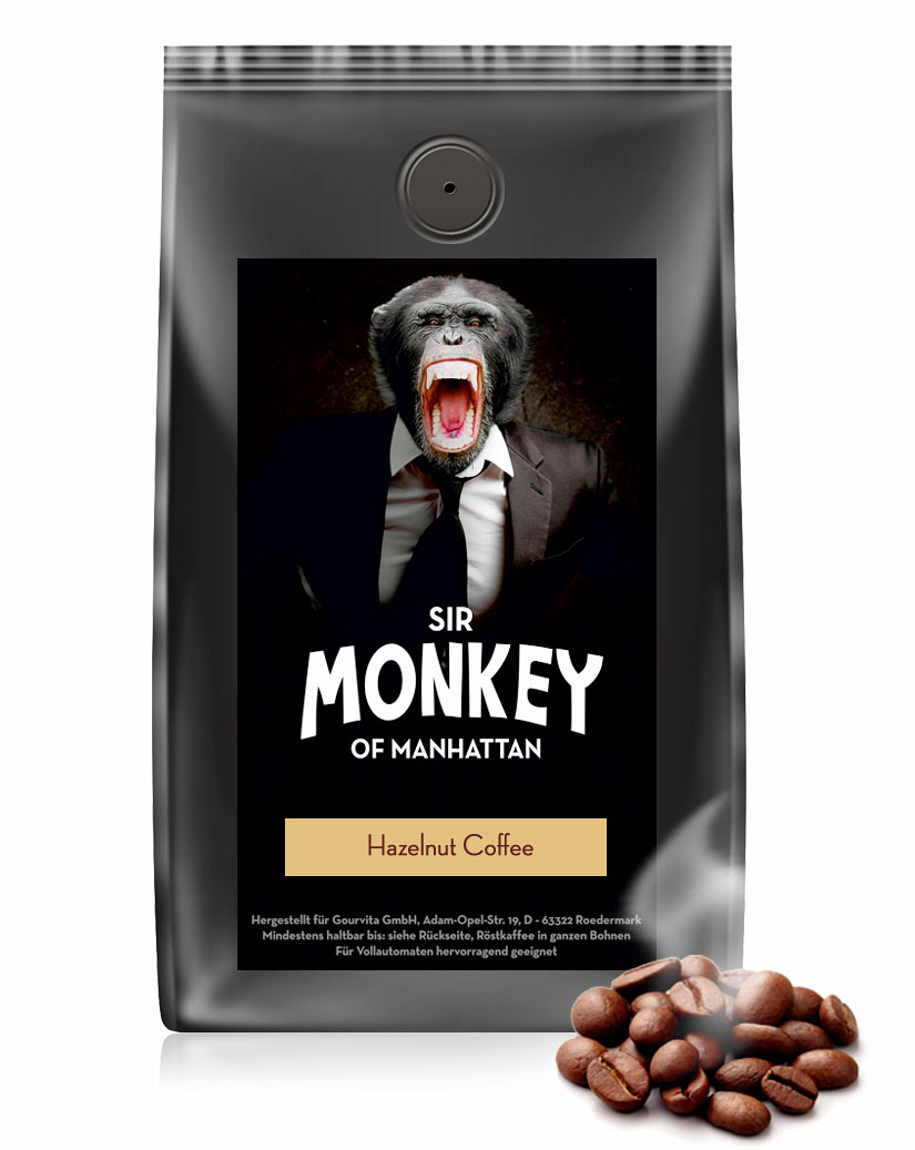 SIR MONKEY OF MANHATTAN Haselnuss Kaffee 500 g jetztbilligerkaufen
