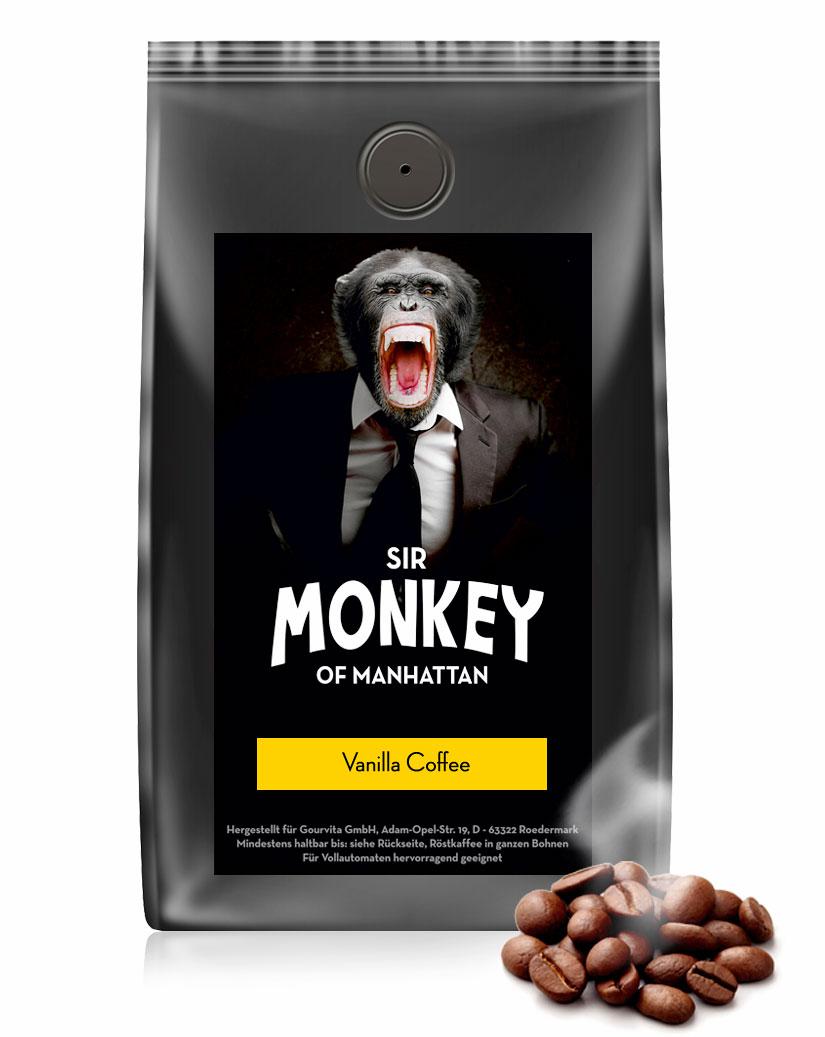 SIR MONKEY OF MANHATTAN Vanilla Kaffee 500 g - broschei