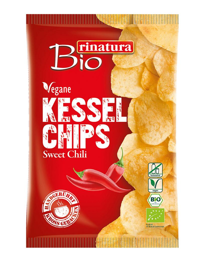 Rinatura Bio Kessel Chips Sweet Chilli, 125 g