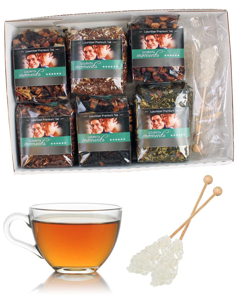 Die besten Exotic Tees Gourvita Moments Probierpaket mit 6 x 50 g und Kandisstangen