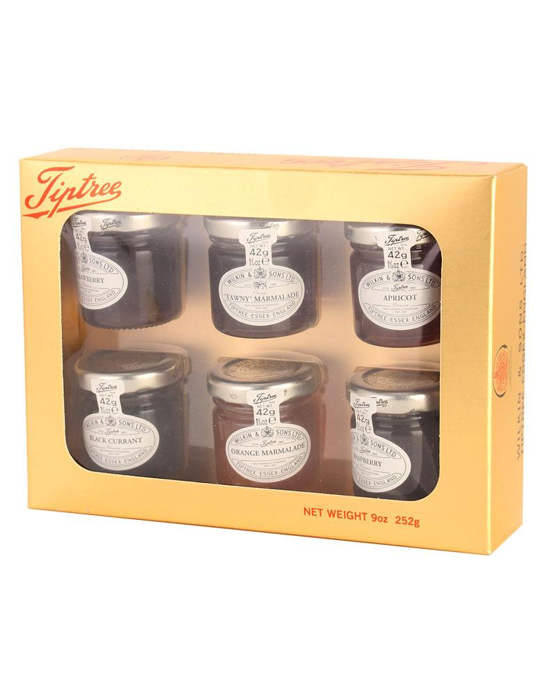 tiptree-wilkin-sons-gold-geschenkpackung-mit-6-x-42-g-marmelade-und-konfiture, 16.95 EUR @ gourvita-com