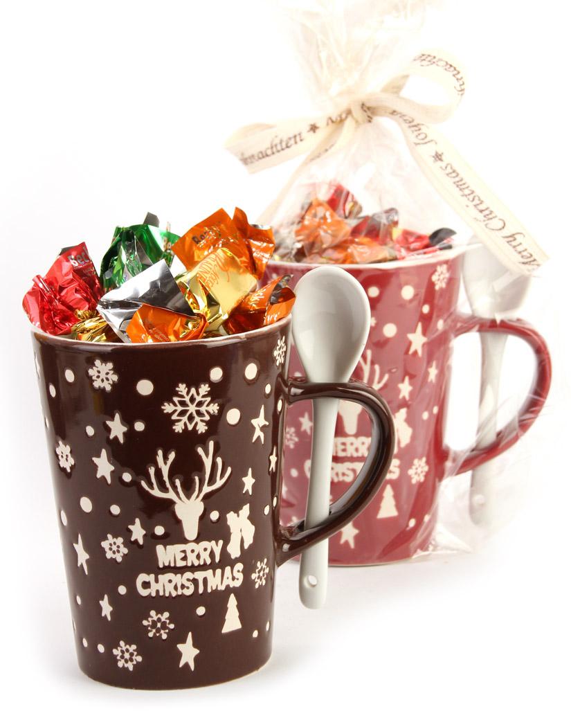 58% Rabatt - Weihnachts Sammetasse Deluxe mit köstlichen Pralinen Bonbons gefüllt