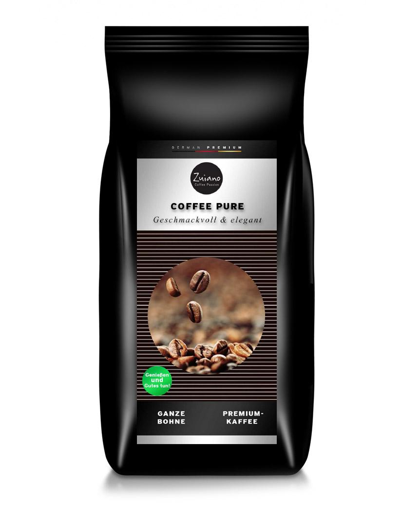 Zuiano Kaffeebohnen Coffee Pure 1000g - broschei